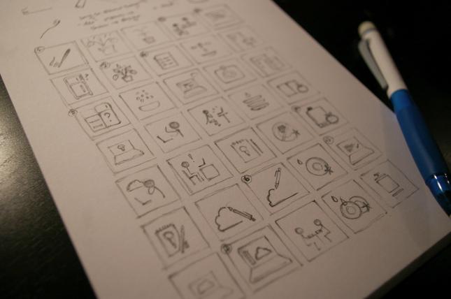 symbol sketching.